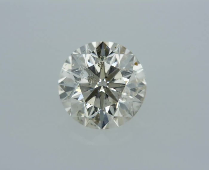 1 pcs Diamant - 0.83 ct - Rond - H - SI1