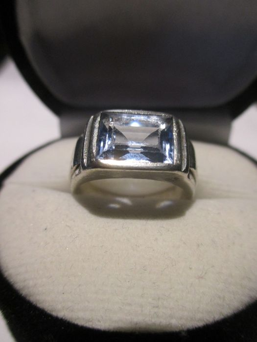 925 Zilver - Ring - 2.92 ct aquamarijn
