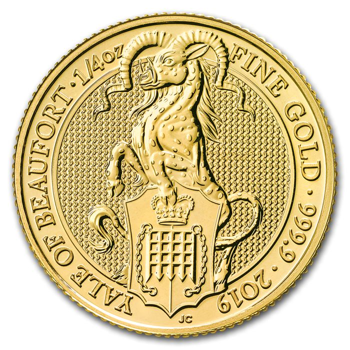 United Kingdom - 25 Pounds 2019 Queens Beast - The Yale of Beaufort - ¼ oz - Gold