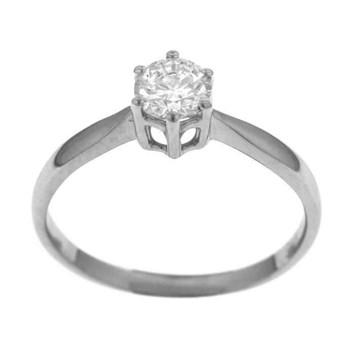 18 karaat Witgoud - Ring - 0.50 ct Diamant