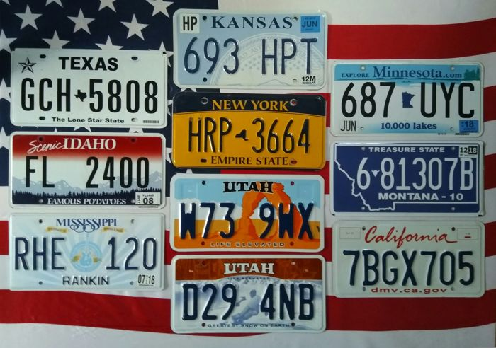 Number plate - --- - 1998-2018 (10 items)