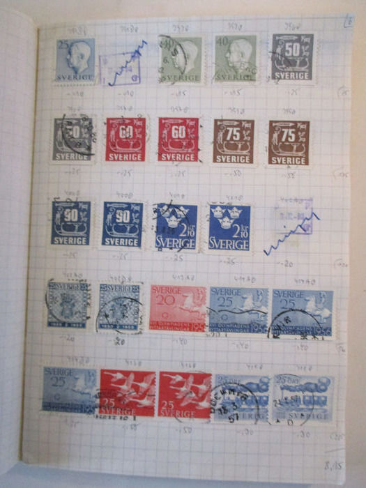World Collection In Two Stamp Albums From Classical Period
