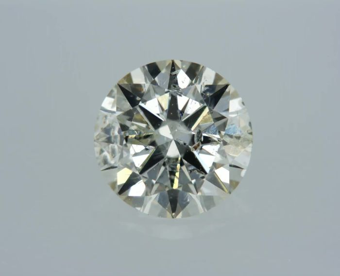 1 pcs Diamant - 0.70 ct - Rond - I - SI1