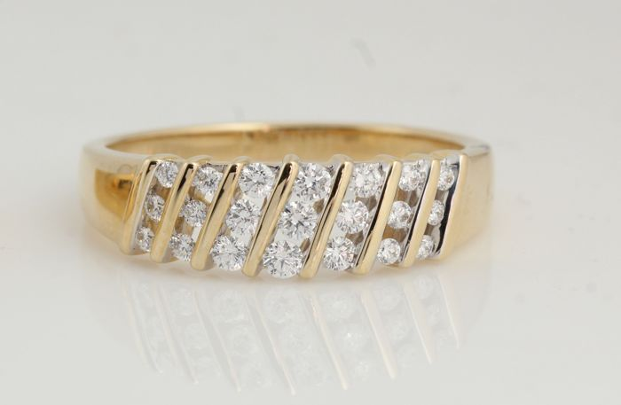14 karaat - Ring Diamant - diamanten