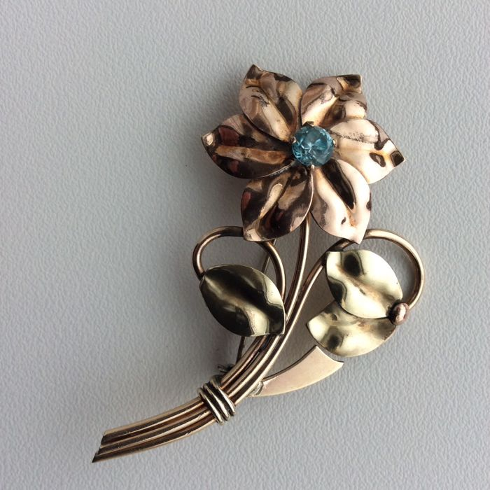 Harry Iskin  10 karaat Harry Iskin broche  - Broche