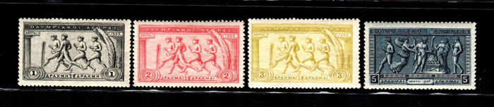 Griekenland 1906 - Tenth anniversary of the Olympic Games - Unificato NN. 174/178