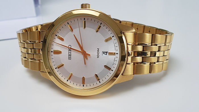 Seiko - 'NO RESERVE PRICE' Gold plated with date - Men - 2019