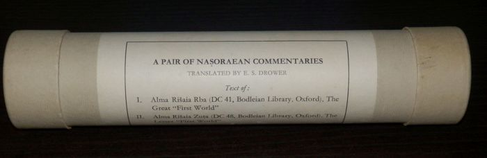 E.S. Drowser - A Pair of Nasoraean Commentaries - 1963