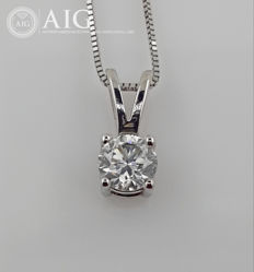 14 kt. White gold - Necklace with pendant - 0.44 ct Diamond - No Reserve