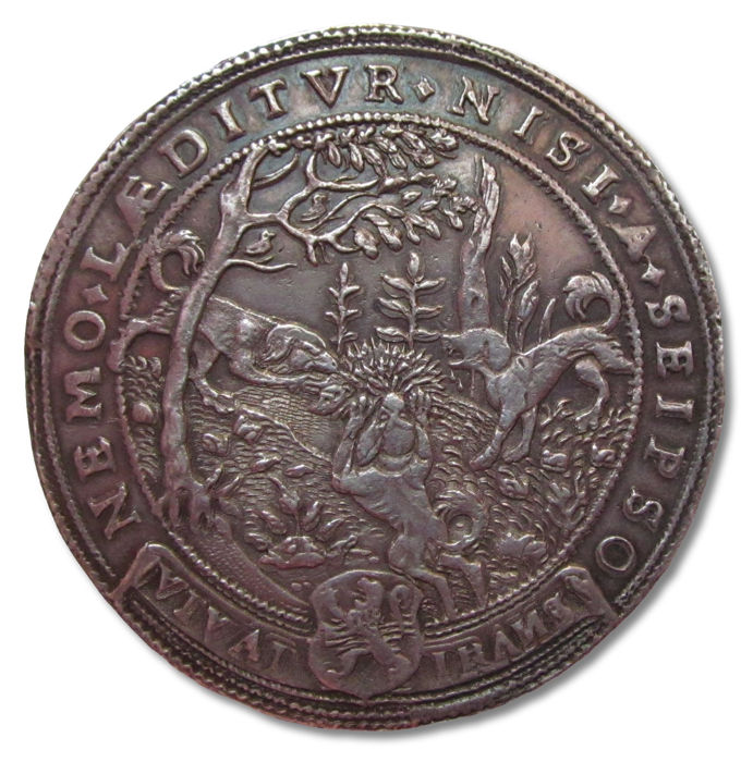 Netherlands - Spanish Netherlands - Medal 1592: Zwolle, Campen, Deventer united in struggle against Spain AR commemorative medal  51 mm - Silver