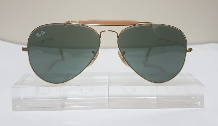 659d9b76b7 Bausch and Lomb Ray Ban USA - Aviator Outdoorsman Sunglasses ...