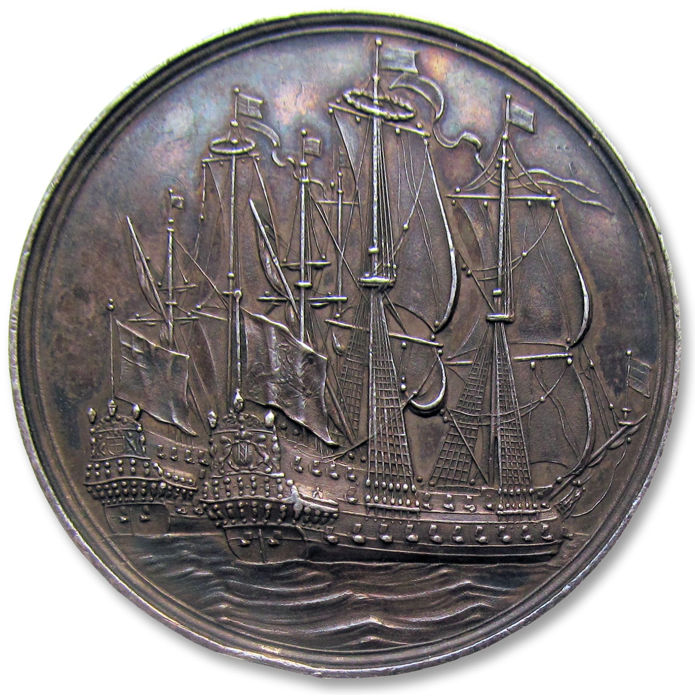 The Netherlands - Medal 1667 The end of the 2nd Anglo-Dutch naval war, by C. Adolfszoon  - Silver