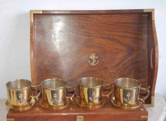 set of the cruise ship cabin. - Brass