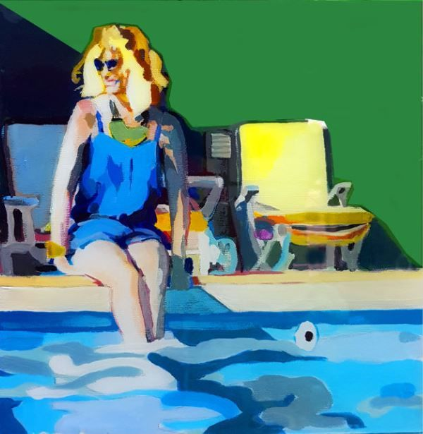 Eduardo Romaguera - Two woman in the swming pool