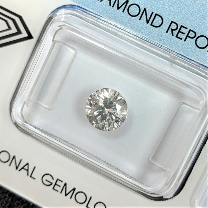Diamant - 1.01 ct - Brilliant - H - I1, IGI Antwerp - No Reserve Price
