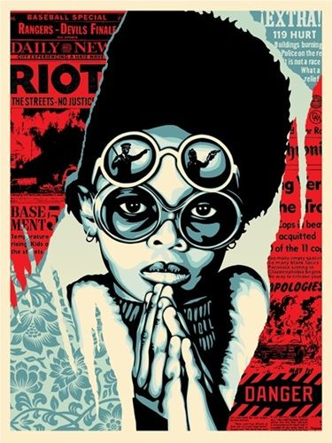 Shepard Fairey (OBEY) - Late Hour Riot