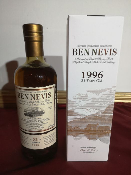 Ben Nevis 1996 21 years old refill sherry butts for LMDW - 0,7 Liter