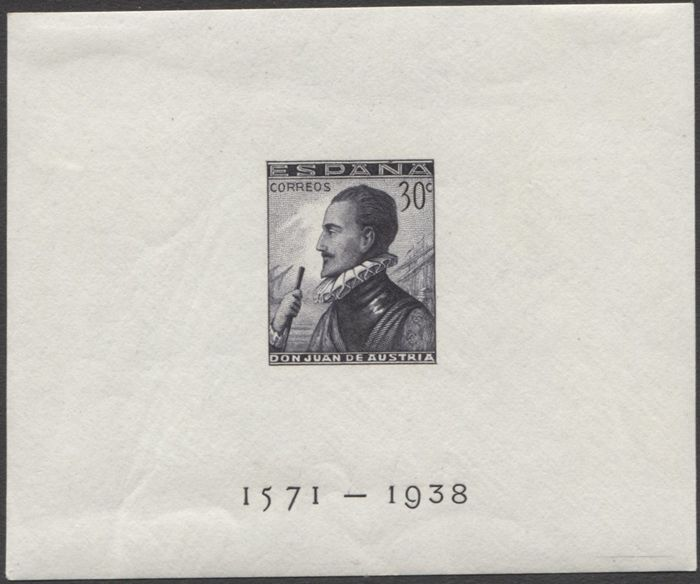 Espagne 1938 - Battle of Lepanto, imperforated. Same numbering - Edifil 864/865