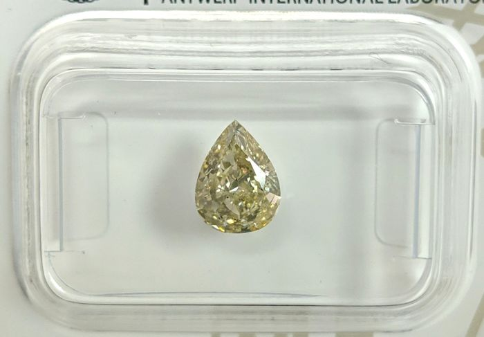 Diamant - 0.92 ct - Peer - fancy light yellow - VS2