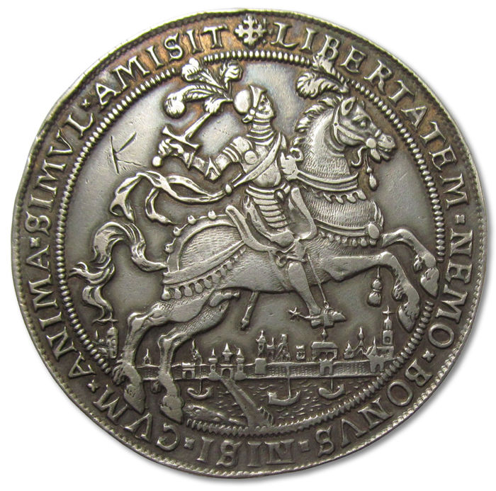 Netherlands - Spanish Netherlands - 54mm medal 1597: Dutch victory at the battle of Turnhout AR commemorative medal - Zilver