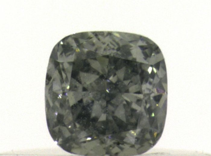 Diamante - 0.24 ct - Cojín - fancy gris amarillento verde - SI2