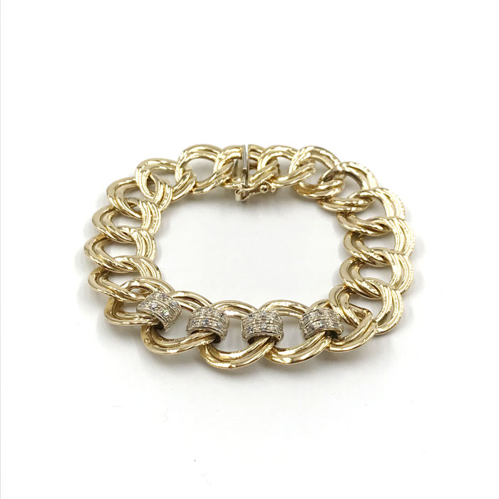 18 kt. Yellow gold - Bracelet - 0.60 ct Diamond