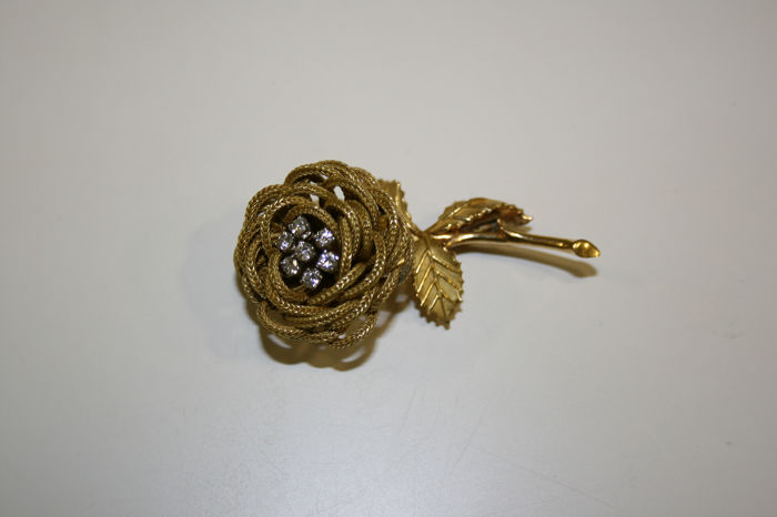 N/A - 18 carats Or jaune - Broche - Diamants