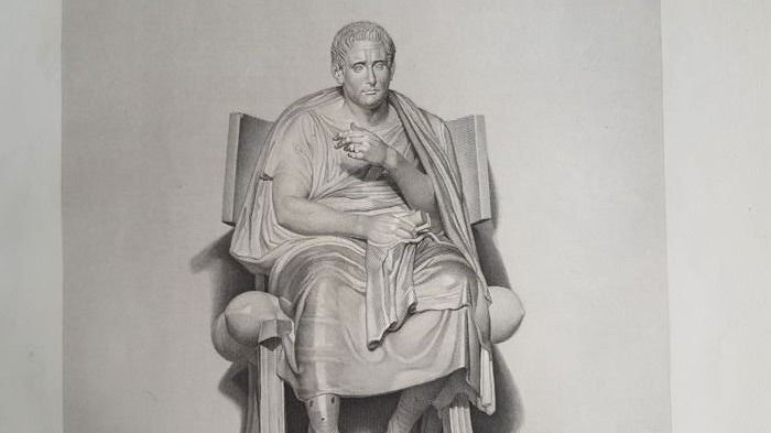 Jean Auguste Dominique Ingres (1780-1867), after, by I.B.H. Bourgois - Posidippe