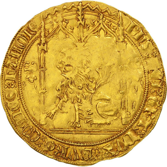 Hainaut County - Philip the Good (1433-1467) - Lion d'or (Valenciennes) - Gold