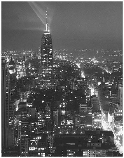 Kees Scherer (1920-1993) - View over NY, New York, 1959
