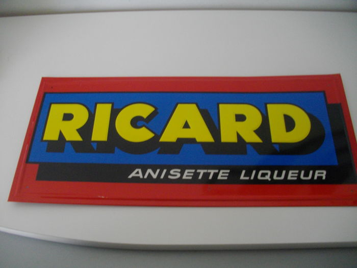 RICARD - Reclameplaat - In plaatmetaal