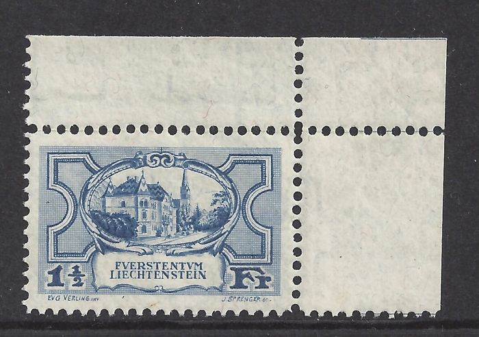 Liechtenstein 1925 - 1,5 Fr. landschap - Michel 71
