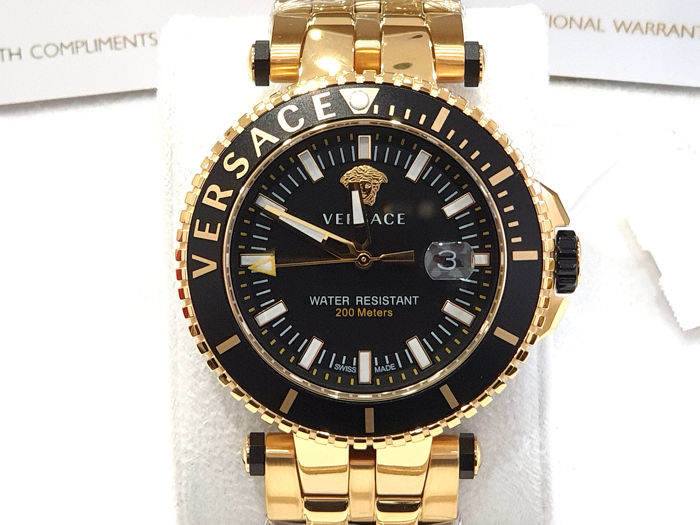 Versace - V-RACE - IP Gold 18K - Swiss Made - VEAK006/18 - Nuovo - Garanzia - Men - 2011-present