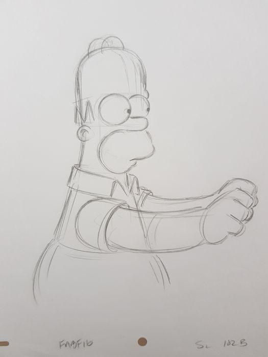 The Simpsons - Matt Groening - Homer Simpson - Includes COA - Loose page - First edition