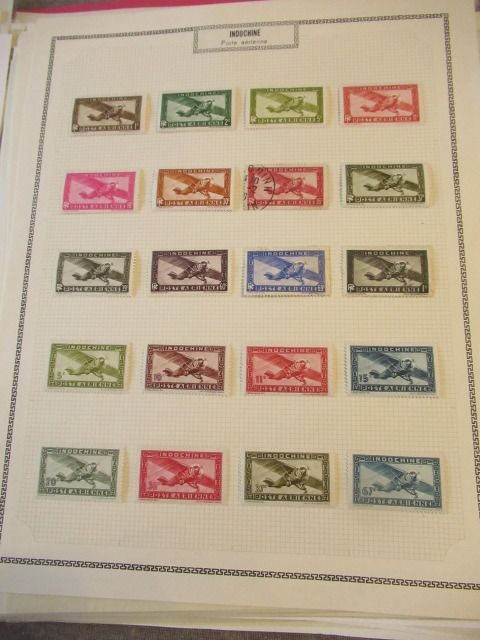 Indochina en tellers - Advanced collection of stamps