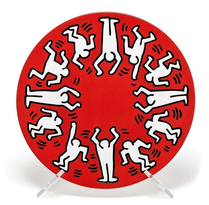 Keith Haring (1958-1990), despues - White on Red