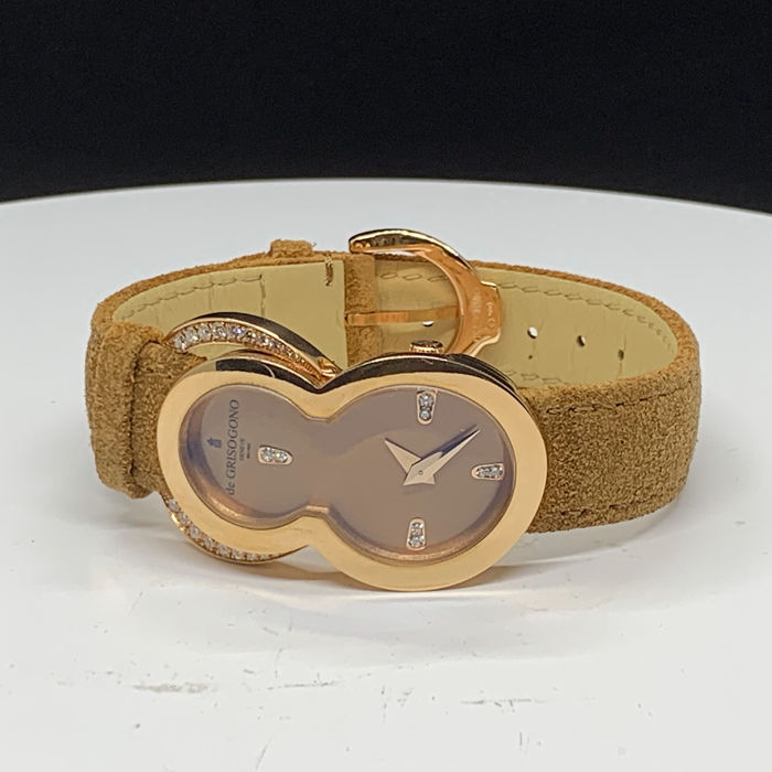 De Grisogono - 18K Rose gold with diamonds  - Be Eight S01 Gold Dial  - Donna - 2011-presente