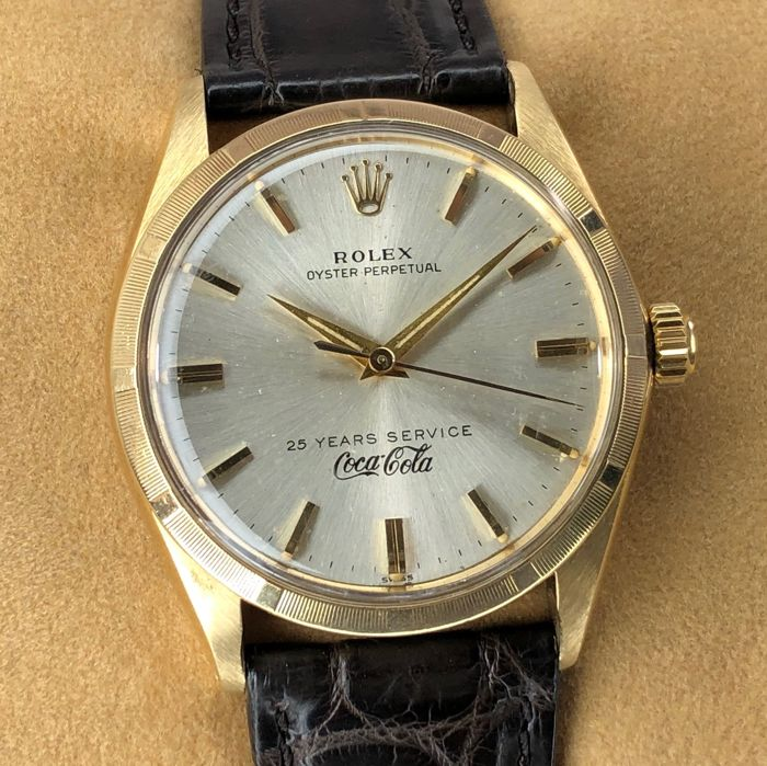 """Rolex - Oyster Perpetual """"25 Years Service Coca Cola"""" - 1003 - Unisex - 1960-1969"""