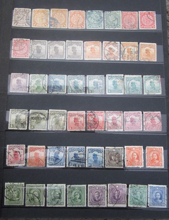 China - República popular desde 1949 - Large batch of mint and postmarked stamps