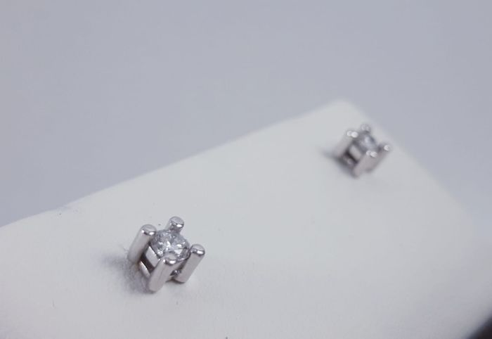Comete - 18 kt. White gold - Earrings - 0.30 ct Diamond