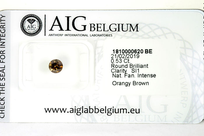 Diamant - 0.53 ct - Brillant - SI1 - * NO RESERVE PRICE *