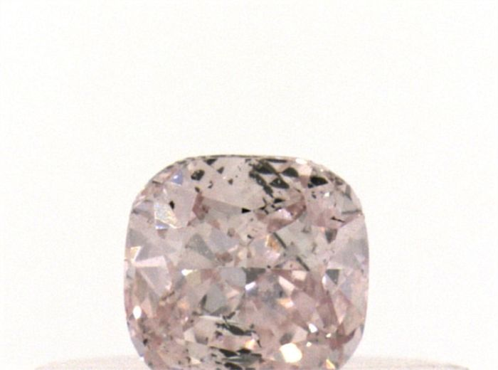 Diamante - 0.19 ct - Cojín - fancy light pink - I1
