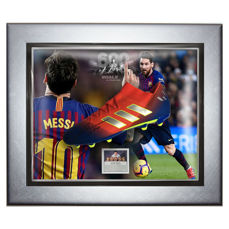 Signed & Framed Barcelona - Lionel Messi - 2019 - Bottes Adidas Nemeziz
