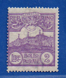Saint-Marin 1903 - View L. 2 dark violet - Sassone N. 44a