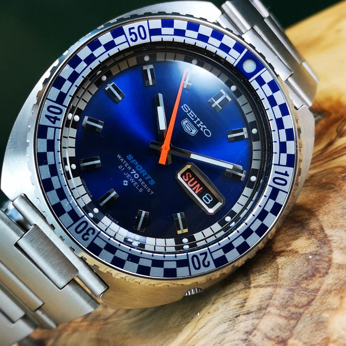 "Seiko - Sports Speed Racing *Rally Diver* - Automatic ""NO RESERVE PRICE"" - 6119-7173 - Men - 1970-1979"