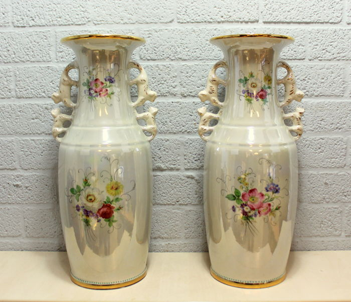 Ivory Mother Of Pearl Floor Vase In 2019: Large Hand-painted Vases (2