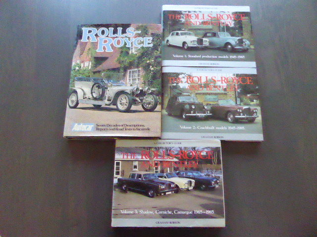 Bøker - 4 Books on Rolls Rocye & Bentley  - 1978-1985