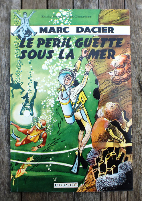Marc Dacier T5 - Le péril guette sous la mer - Softcover - First edition - (1962) Comics for sale