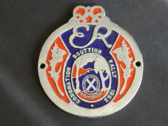 Insigne - Badge Vintage Coronation Scottish Rally 1953 - 1953