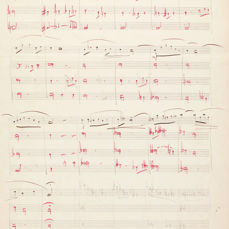 Maurice Ravel - Music autograph manuscript, unpublished - 1900